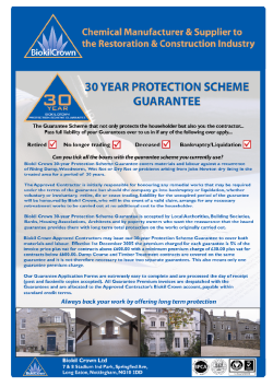 30 year protection guarantee